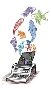 Fish Typewriter