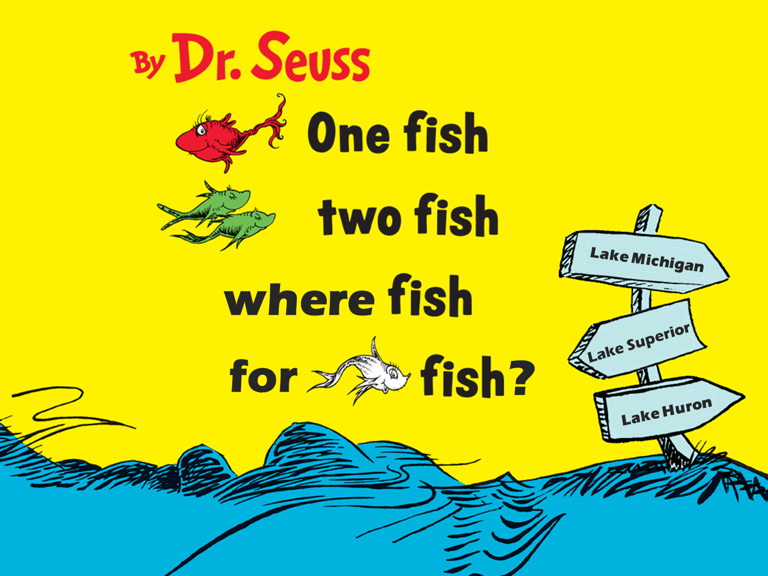 One fish two fish where fish for whitefish the for One fish two fish menu