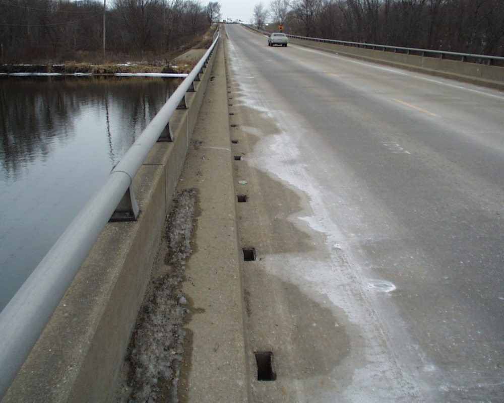 Most road salts eventually end up as runoff into local waterways. (Source)