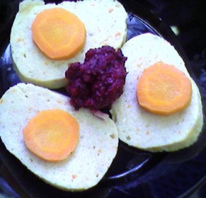 Gefilte fish is a traditional dish served by Ashkenazi Jews.