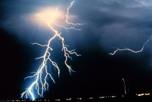 Lightning might not ever strike twice, but it is more likely to strike than a shark.