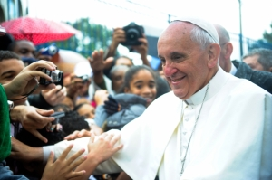 Pope Francis cites climate change as an important problem for fish and other natural resources.