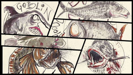 Halloween Fish Collage