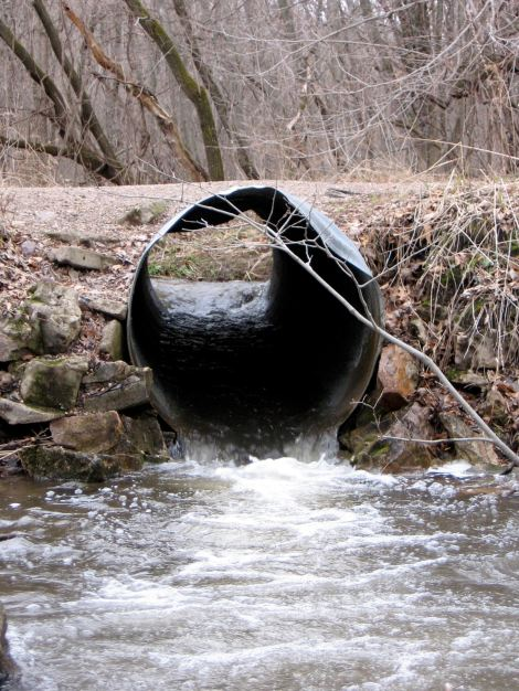 Road culvert on a small stream in rural Wisconsin, USA. Photo credit: Carmen Hardin, Wisconsin Department of Natural Resources