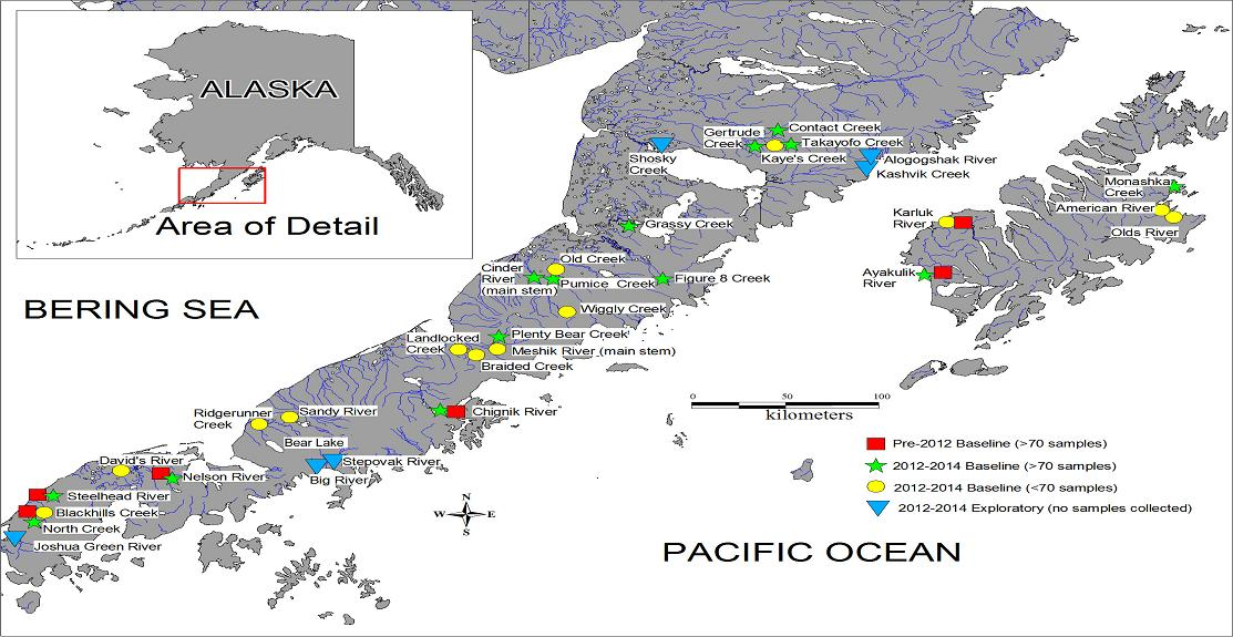 Fish Ninjas Alaskan Scientists Swoop In To Capture Fish The - Alaskan map