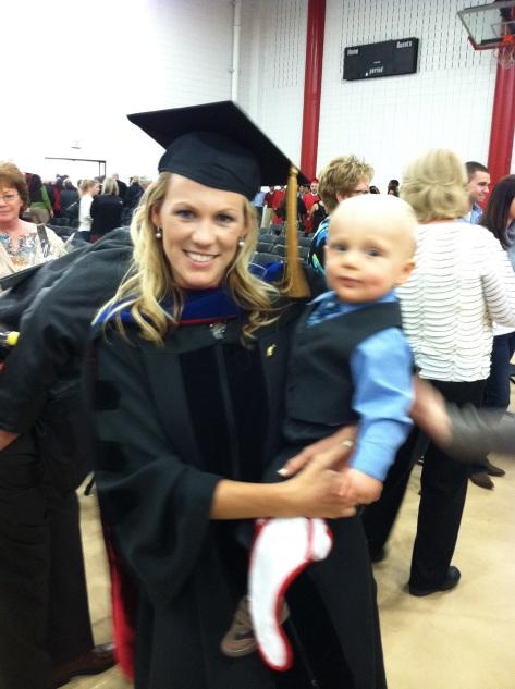Gavin and I at graduation