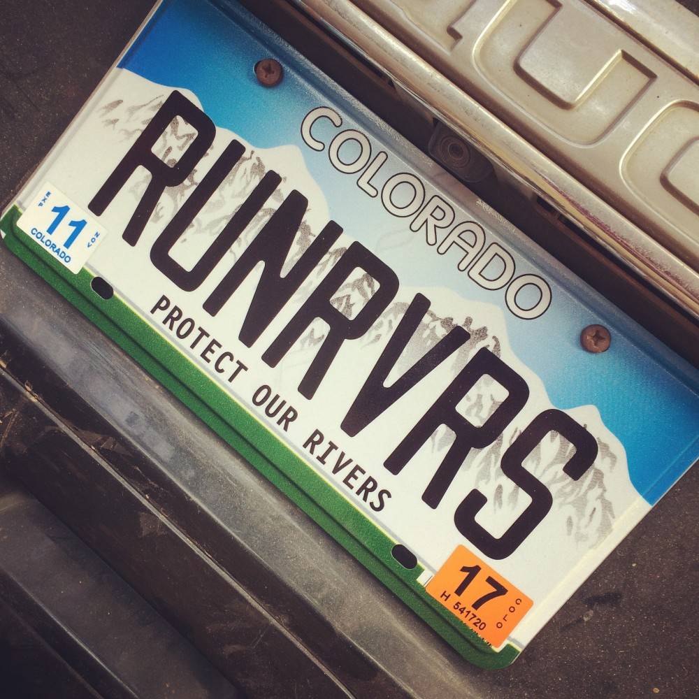 Running Rivers License Plate